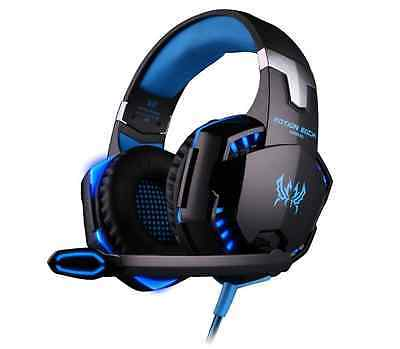 KingTop - G2000 Casque Gamer - Gaming Filaire avec Micro LED Lumière - PS4/PC