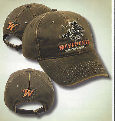 WINCHESTER Weathered Hunting Hat Target Shooting Rifles Firearms