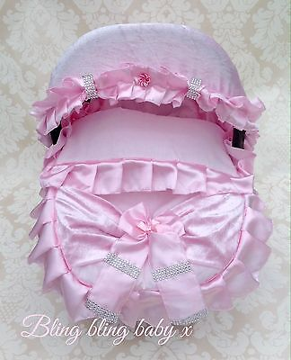 Baby Car Seat Cosy Toes Covers, Maxi Cosi, Liner, Hood Romany Bling Ruffles