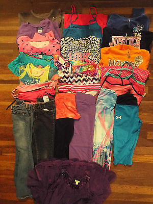 25 pieces Girls size 7/8 10/12 Justice Aeropostale Levi's Place SO