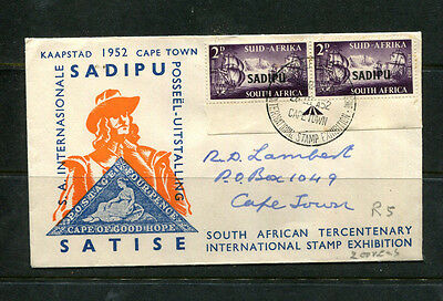 South Africa 1952 Fdc First Day Stamp Cover Sadipu Satise Stamp Exhibition