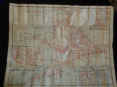 VIntage Map of the Great Western Railway System in paper wallet