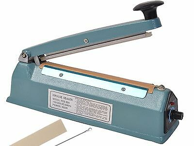 "8"" Heat Sealing Hand Impulse Sealer Machine Poly Free Element Plastic Sealer"