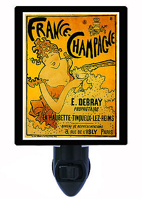 Night Light - France Champagne - Vintage Poster - French Wine