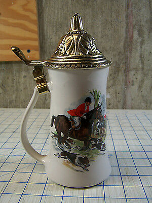 McCoy Beer Stein the Hunt Horses, Foxes, & Hounds Hunting Scene #6020