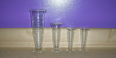 Lab Glass Lot #57 - Pharmaceutical Graduate Cylinder Lot of (4)