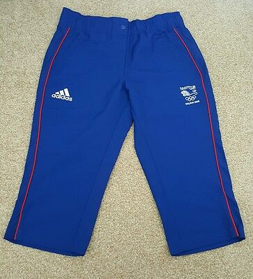 Official Olympic Team GB 3/4 length trousers ATHLETE ISSUE Rare. 2008 Beijing