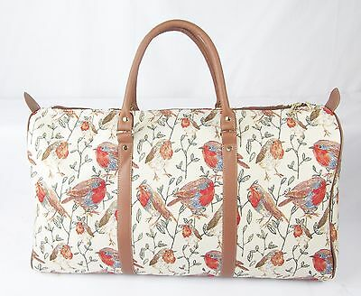 Robin Bird design Tapestry Travel Gym or Overnight bag Signare