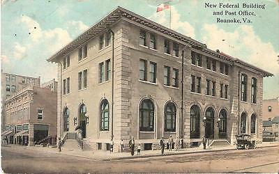 1910s NEW FEDERAL BUILDING and POST OFFICE,  ROANOKE, VA.