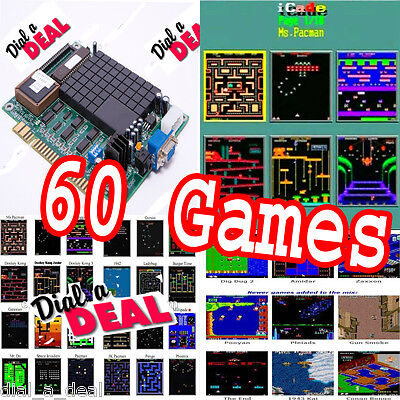 Classic 60 In 1 Vertical Multi Arcade Game JAMMA Board CGA / VGA Output MAME