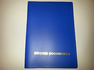 A5 Mid Blue Car Document Holder Holder With Card Pocket