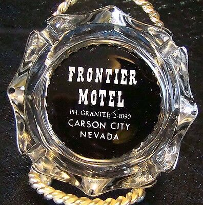 Vintage - 1950s - Frontier Motel - Carson City Nev - Ashtray - Gotta L@@K!!