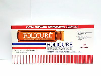 Folicure Formula for Fine or Thinning Hair  0.23 oz / 6.8 ml X 12 Ampoules