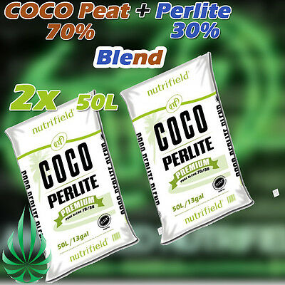Nutrifield Coco Coir Perlite Blend Grow Medium Hydroponics Gardening Media 100L