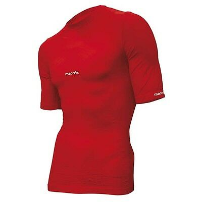 **rrp £45 - Now £10** Macron Short Sleeve Base Layer Top - Size M - Red
