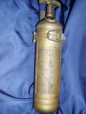 Rare CPR Canadian PACIFIC Railway Brass Fire Extinguisher Pyrene w/Bracket
