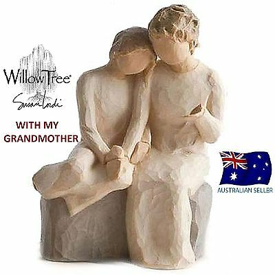 WITH MY GRANDMOTHER  Demdaco Willow Tree Figurine By Susan Lordi NEW IN BOX