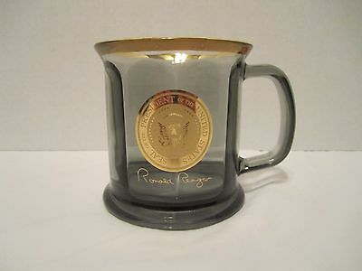 Seal Of The President Of The United States Ronald Reagan Glass Mug Cup