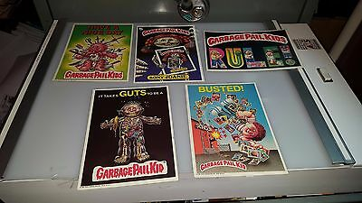 1986 Garbage Paid Kids Gpk Jumbo Cards 5 X 7 Lot Of 5 Cards   Lot#9
