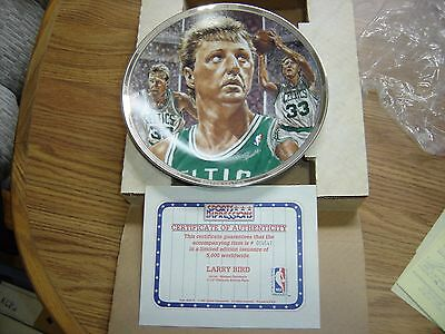 """Larry Bird 1991 Sports Impression Limited Platinum Edition Collector 8.5"""" Plate"""