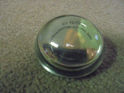 Vintage Old Faihful, Yellowstone National Park Paperweight Wyoming