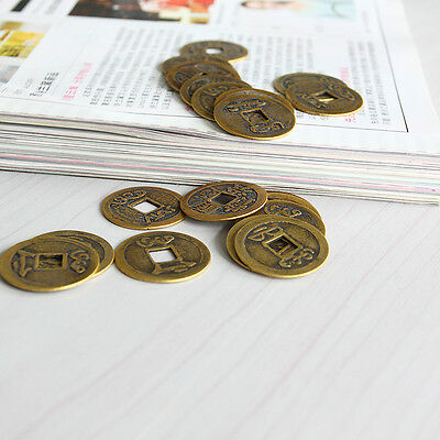 """10pcs Feng Shui Coins 1.00"""" 2.3cm Lucky Chinese Fortune Coin I Ching Set EFC"""