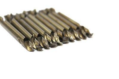 10 PCS X 3.2 mm  HSS DOUBLE ENDED DRILL BITS FOR STAINLESS STEEL TRADE QUALITY