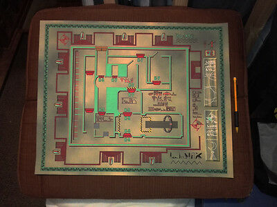 Stargate SG1 prop - SGC Hathor facilities map - LIMITED EDITION - from original