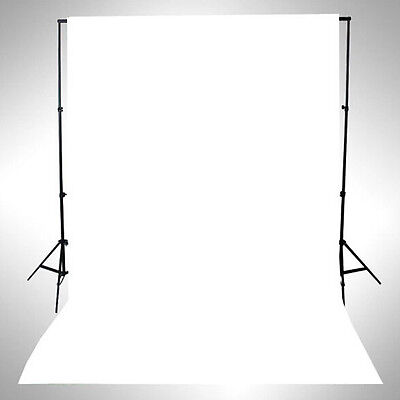Photography Studio Background Support Kit Stand White ChromaKey Backdrop Set