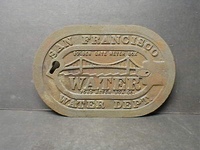 Original Vintage San Francisco Water Department Cast Iron Water Meter Box Cover