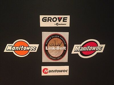 Lot Of 5 Manitowoc Grove Link Belt Crane Hardhat stickers Union Iron Workers