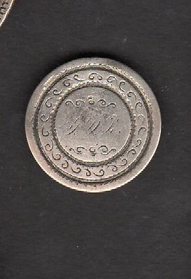 US Love Token - 1842 Dime Love Token with Reverse Engraved