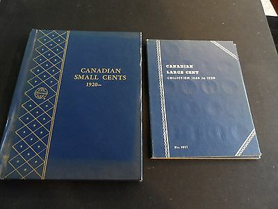 Canada 2 Book Set of One Cent Coins - 40 Large Cent 55 Small Cent Coins