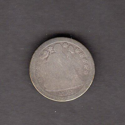 US 1841-O Seated Liberty Silver Dime Coin in G Good Condition
