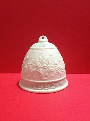 Lladro Porcelain 1992 Bell Ornament Christmas Collectible