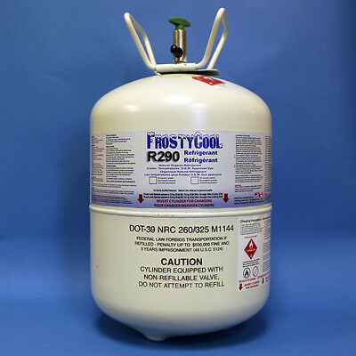 """FrostyCool R290 Refrigerant """"30 lb Equivalent"""" Formally 22a"""