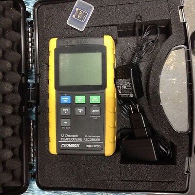 Omega RDXL 12SD 12-Channel Thermometer/Data Logger Recorder w/ 16 GB SD Card