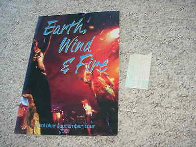 EARTH WIND & FIRE 2001 tour book and ticket stub