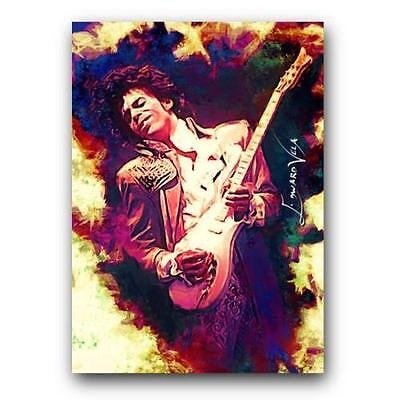 Aceo Prince # 2 Limited 3/9 Hand Paint Art Sketch Card Artist Sign