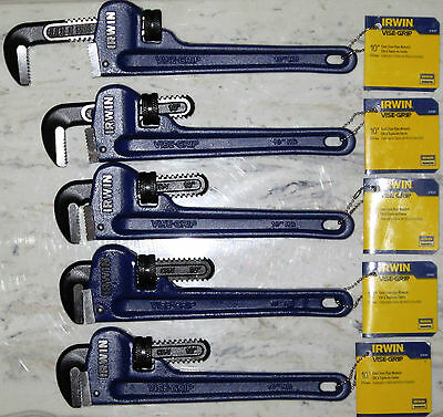 IRWIN VISE-GRIP 10  Cast Iron Pipe Wrench Top-Grade Cast-Iron & IRWIN VISE-GRIP 10