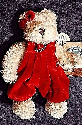Boyds Bears And Friends Red Velveteen Onesie With Paper & Cloth Tags Jointed