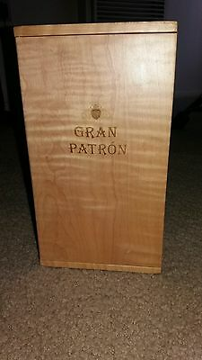 Gran Patron Tequila Wood Signed & Numbered Display Box Empty