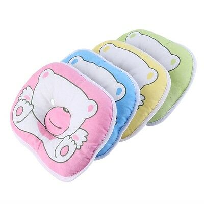 Bear Pattern Pillow Newborn Infant Baby Support Cushion Pad Prevent Flat Head @#