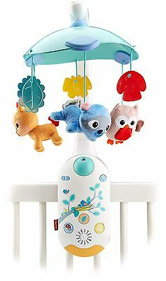 Fisher-Price Moonlight Meadow Smart Connect 2-in-1 Projection Mobile Brand New!