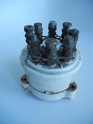 Antique Everett Electrical  Wiring Part Porcelain 8 Pole Steampunk NY
