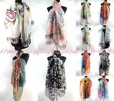 US SELLER-lot of 10 retro paisley butterfly scarves sarong  beachwear clothing