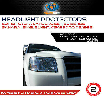 Headlight Protectors To Suit Toyota Land Cruiser 80 Series Sahara 90-98 Covers