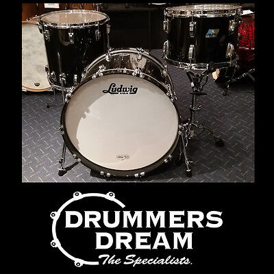 Ludwig Classic Maple 3 Piece Drum Kit Shell Pack Custom Order Black Sable Finish