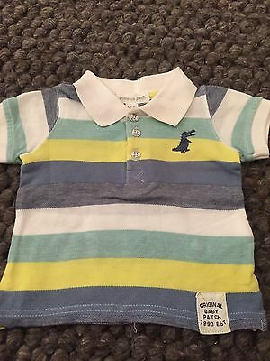 Pumpkin Patch Baby Boys Polo T-shirt Size 0-3m * Excellent Condition *