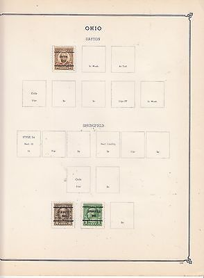 UNITED STATES OF AMERICA Early Springfield  Pre-Cancels Removed for Shipping
